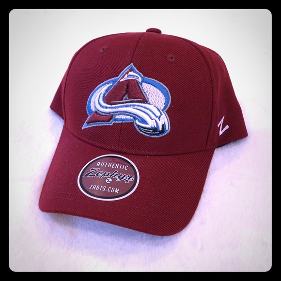 newest 45520 3bfb2 NEW Colorado Avalanche NHL Hockey Red Baseball Hat. NWT. Zephyr